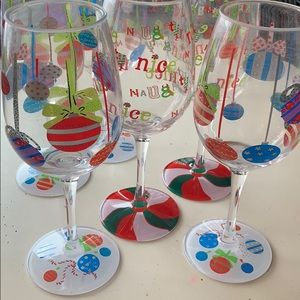 Lolita plastic Christmas wine glasses